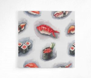 watercolor sushi